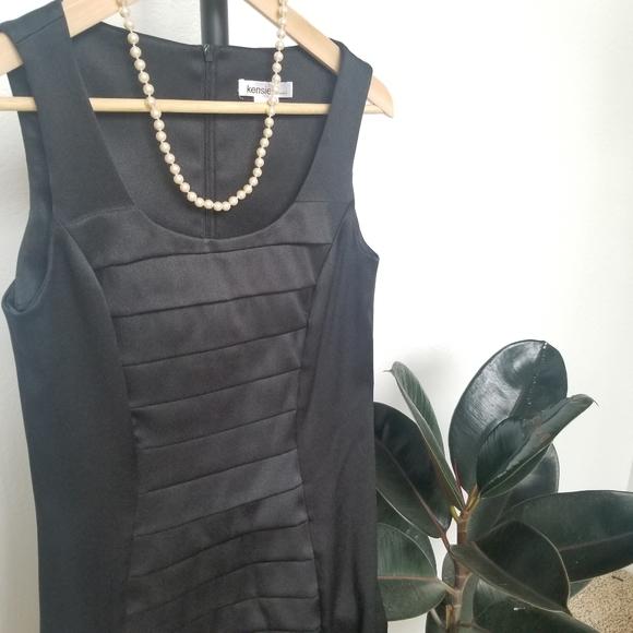 Kensie Dresses & Skirts - Kensie Dresses Black Satin Sheath Dress